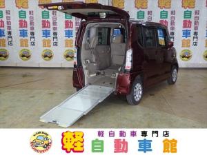 ホンダ N-BOX+ G・Lパッケージ 車椅子使用車 フルセグTV・ナビ 4WD ABS 片側パワスラドア アイドリングSTOP スマートキー