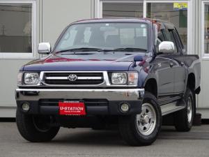 トヨタ ハイラックススポーツピック ダブルキャブ 4WD 4ナンバー ターボディーゼル 4速AT サンルーフ リモコンエンジンスターター フルセグTV付ナビ スタッドレスタイヤ積
