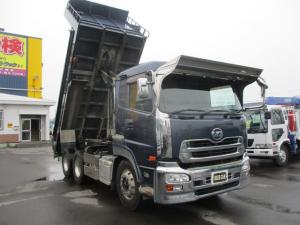 日産ディーゼル クオン 9.4トン ダンプ 新明和 7速マニュアル 2デフ 5300