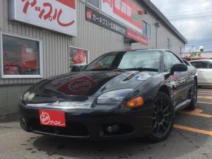 三菱 GTO ツインターボ 黒レザーシート 電動シート 6速マニュアル クルーズコントロール 夏冬タイヤ 車検整備付き タイミングベルト交換履歴有り(103,054km)
