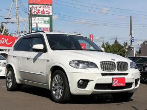 BMW X5 xDrive 35i Mスポーツパッケージ 黒革シート 純正ナビ バックカメラ パーキングソナー クルーズコントロール シートヒーター メモリー付きパワーシート プッシュスタート 夏冬タイヤ付 HID 純正19インチアルミホイール ETC