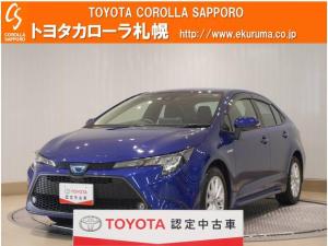 トヨタ カローラ ハイブリッド S 4WD デモカーUP・メモリーナビ付