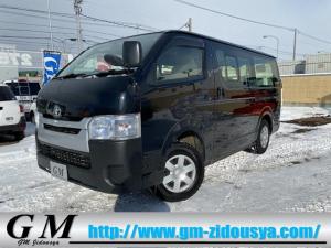 トヨタ ハイエースバン ロングDX 4WD ワンオーナー 6人乗り 寒冷地仕様 ETC キーレス ブラック外装 リアシートベルト