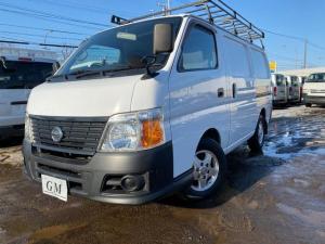 日産 キャラバン ロングDX 4WD 低床 ワンオーナー 3人乗り ルーフキャリア リアラダー SDナビTV ETC 寒冷地仕様