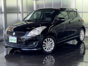 スズキ スイフト RS 4WD フルセグナビ シートヒーター ETC スマートキー 純正アルミホイール フォグライト CD・DVD再生 イモビ