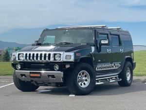 ハマーH2 ラグジュアリーパッケージ 新車並行 ローダウン 4WD ブラックレザーシート サイドバイザー キーレス スタッドレス付き パワーシート サンルーフ 社外マフラー ナビ フルセグ シートヒーター