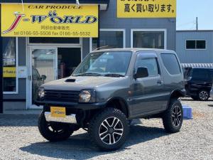 スズキ ジムニー XG 4WD ターボ 3インチリフトUP 社外バンパー・マフラー M/Tタイヤ・AW 走行7.6万キロ