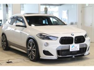 BMW X2 xDrive 20i MスポーツX SR・純正OP20AW・後席モニター・地デジ・社外エアロ・ダウンサス・PWバックドア・黒グリル・黒革・ヘッドアップディスプレイ