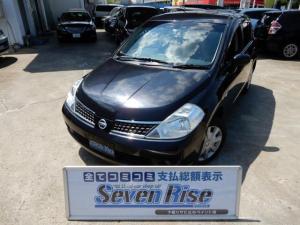 日産 ティーダ 15M FOUR 4WD 保証付 事故無 Tチェーン スマートキー 純正CD オートエアコン 電格ミラー オートライト 盗難防止装置 ABS WSRS