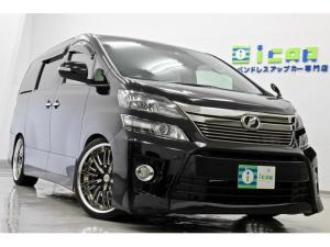 トヨタ ヴェルファイア 3.5Z Gエディション 黒革 HDDナビ BLITZ車高調 WORK20AW