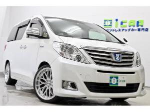 トヨタ アルファードハイブリッド G HDDナビ 後席モニター 新品サス 新品タイヤ/20AW