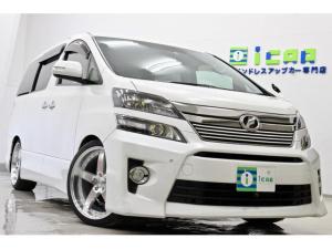 トヨタ ヴェルファイア 3.5Z ゴールデンアイズII HDDナビ 後席モニターPバックドア 新品サス/20AW