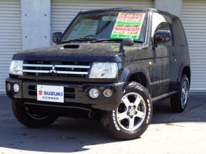 三菱 パジェロミニ アクティブフィールドエディション 4WD ターボ 純正ナビ ABS フォグ 15AW 本州車 フロアマット 背面ハードカバー 電動格納ミラー CD Wエアバック ETC