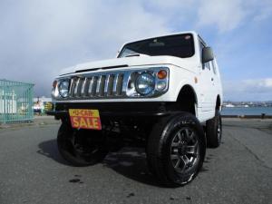 スズキ ジムニー HA 5MT ターボ 4WD 3インチリフトアップ 社外F&Rバンパー 社外エアクリーナー&ブローオフバルブ メッキグリル 社外ライト 調整式ラテラルロッド 強化ステアリングダンパー 九州仕入れ