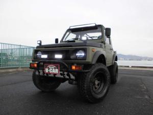 スズキ ジムニー CC フルメタルドア 5MT ターボ 4WD 構造変更済 リフトアップ 減衰力調整式ショック ボディーリフト オーバーフェンダー LED社外ヘッドライト&ライト 規格外パワステ 社外マフラー