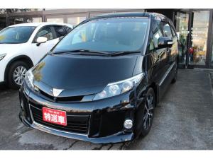 トヨタ エスティマ アエラス プレミアムエディション 4WD ハーフレザーシート 7人乗り 運転席パワーシート