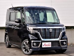 スズキ スペーシアカスタム ハイブリッドXS 4WD 届出済未使用車 純正8インチナビフルセグ Bluetooth接続 両側パワースライドドア LEDヘッドライト ドアバイザー フロアマット