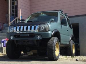 スズキ ジムニー XL リフトアップ 大系タイヤ 戦車色オリーブに全塗装済み 社外足回り 社外マフラー エラクリ 多数