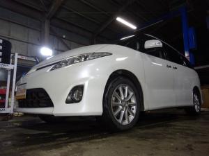 トヨタ エスティマ 2.4アエラス Gエディション 4WD HDDナビ 地デジ バックカメラ 7人乗り ETC 両側パワースライドドア フリップダウンモニター ワンオーナー クルコン スマートキー プッシュスタート ドアバイザー
