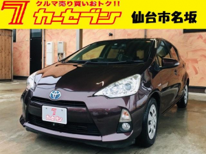 トヨタ アクア G アルパインHDDナビ ETC ドライブレコーダー スタッドレスタイヤ