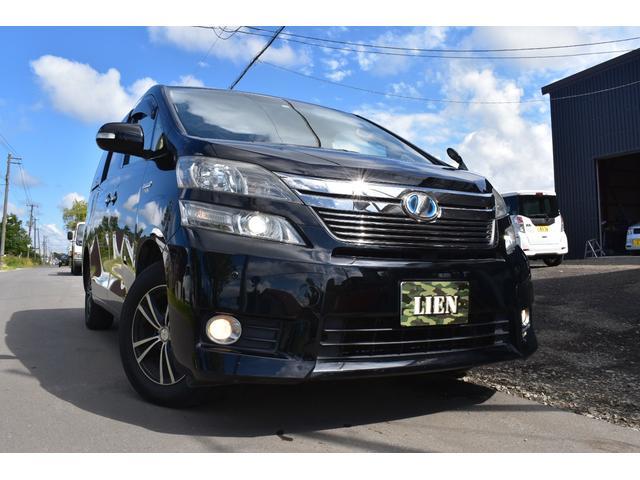 ヴェルファイアハイブリッド入庫!本州仕入れです! Bluetooth・夏冬タイヤ・人気のブラック!