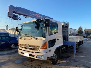 日野 レンジャー 4トン4段クレーン 4WD ワイドロング ラジコン付