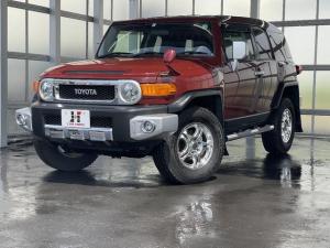 トヨタ FJクルーザー カラーパッケージ 4WD Bカメラ クルコン 寒冷地仕様 障害物センサー フルセグナビ 社外アルミ 横滑り防止 ETC プレイヤー接続