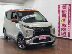 三菱 eKクロス T 4WD e-Assist 15インチ純正アルミホイール オートエアコン シートヒーター プッシュスタート LEDヘッドライト ステコン 2トーン色