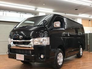 トヨタ ハイエースバン ロングスーパーGL キーレスプッシュスタートアクセサリーコンセントプリクラッシュセーフティリアヒーターディーゼル登録済未使用車4WD