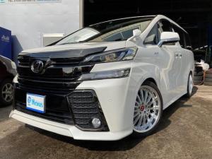 トヨタ ヴェルファイア 2.5Z Aエディション ゴールデンアイズ 20インチAW/ローダウン/両側Pスライド/パワーバックドア/LEDヘッドライト/純正SDナビ/純正リアモニター/新規車検整備付
