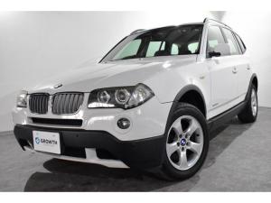 BMW X3 xDrive 25i 後期型 6速AT 純正HDDナビ 電動格納ワイドモニター 革巻ステアリング ステアリングスイッチ レザーコンビシフトノブ ミラー一体式ETC メモリー機能付パワーシート 横滑り防止