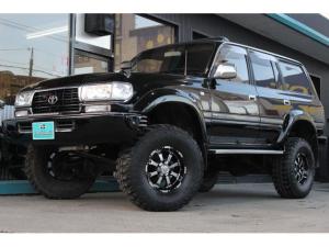 トヨタ ランドクルーザー80 VX 4WD・ディーゼルターボ・ナビ・フルセグテレビ・ETC・サンルーフ・リフトアップ・ヒッチメンバー・Bluetooth