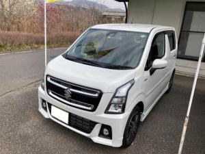 スズキ ワゴンRスティングレー ハイブリッドT 4WD ターボ ナビTV Bluetooth DVD再生 シートヒーター
