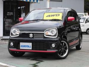 スズキ アルトターボRS ベースグレード RSターボ 4WD マニュアルモードオートマチック レーダブレーキ ワンオーナー ブルートゥースCDオーディオ