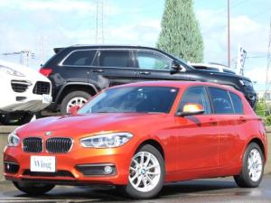 BMW 1シリーズ 118i 禁煙 純正ナビ LEDヘッドライト バックカメラ 後方パークディスタンス ミラーETC 16インチAW BTオーディオ Mサーバー CD DVD ヴァレンシアオレンジメタリック