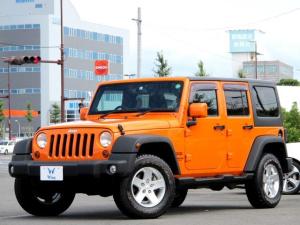 クライスラー・ジープ ジープ・ラングラーアンリミテッド オレンジ 限定車70台 社外ナビ バックカメラ サイドカメラ フルセグTV クルーズコントロール ヒルディセントコントロール 17インチAW 背面タイヤ タイミングチェーン ETC Bluetooth ドラレコ
