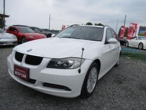 BMW 3シリーズ 320i ツーリング ベージュ革シート ナビ・バックカメラ プッシュスタート 純正ETC 純正アルミパワーシートヒーター付き