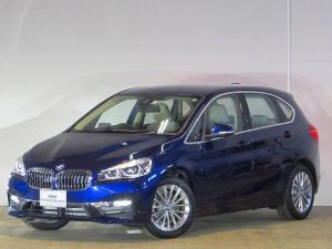 BMW 2シリーズ 218d xDriveアクティブツアラーラグジュアリ 認定中古車 ワンオーナー 禁煙車 LEDヘッドライト 純正HDDナビ ルームミラー内蔵ETC ACC SOSコール バックカメラ 障害物センサー 衝突軽減ブレーキ 電動リアテールゲート コンフォートA