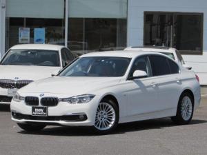 BMW 3シリーズ 320d ラグジュアリー 認定中古車 純正HDDナビ LEDヘッドライト ルームミラー内蔵ETC インテリジェントセーフティー コンフォートアクセス バックカメラ 障害物センサー アクティブクルーズコントロール 黒レザー