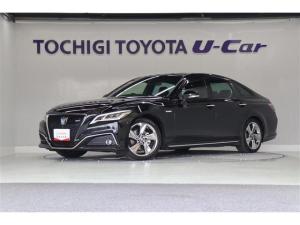 トヨタ クラウンハイブリッド RS 試乗車 パノラミックビューモニタ 電動リヤサンシェード