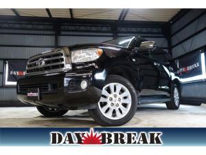 米国トヨタ セコイア プラチナム 新車並行 レッドロックレザーシート サンルーフ エアサス レダークルーズコントロール