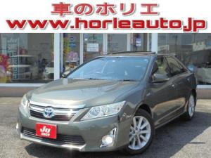 トヨタ カムリ ハイブリッド レザーPKG メーカーHDDナビ サンルーフ