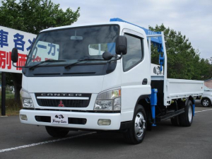 三菱ふそう キャンター 4.9D 4段クレーン 2トン積載 車両総重量6065kg