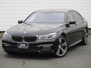 BMW 7シリーズ 750Li Mスポーツ ワンオーナー禁煙 レザーシート ヒーター 電動ガラスサンルーフ ベンチレーション アクティブクルーズコントロール リアエンターティメント バックカメラ ソフトクローズドア 純正20インチレーザーライト