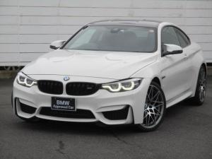 BMW M4 M4クーペ コンペティション ワンオーナー 禁煙車 純正ナビ 地デジ バックカメラ PDC ブラックレザーシート シートヒーター harman/Kardon ヘッドアップディスプレイ 純正20インチAW アダプティブMサス ETC