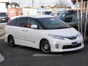 トヨタ エスティマハイブリッド G 4WD 7人 車高調
