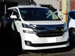 トヨタ ヴェルファイアハイブリッド V 両側パワースライドドア LEDヘッドライト ハーフレザーシ-ト 純正メーカーOPナビ 7人乗り コンビハンドル Bluetooth付 Bカメラ キーレス プッシュスタート