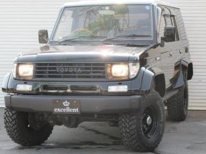 トヨタ ランドクルーザープラド SX オーバーフェンダー ブラックロード15in