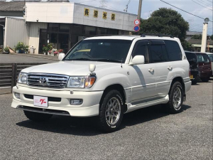 トヨタ ランドクルーザー100 VXリミテッド 4WD サンルーフ SDナビ フルセグTV ETC 1ナンバー登録 5人乗り タイヤ新品 18インチアルミ タイミングベルト交換済