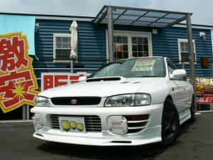 スバル インプレッサ WRX STiバージョンIV 4WDターボ TEIN車高調 フジツボマフラー 社外アルミ CD エアバッグ ABS ポリマーコーティング施工済み